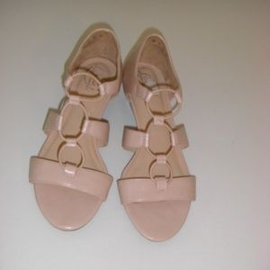 EUC Life Stride Yiddy Wedge Sandal, blush, size 8